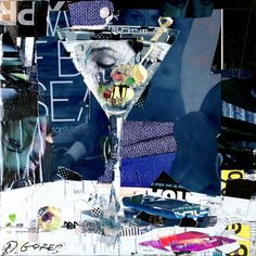 """""""Someone to See"""" Collage Artwork by Derek Gores. I admire his work. It's made of torn magazines, posters and such. Paper Collage Art, Collage Art Mixed Media, Collage Artwork, Paper Art, Derek Gores, Collages, Collage Portrait, Magazine Collage, Creative Poster Design"""