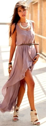Hi-Lo Lilac Dress