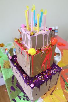 Giant Cake Decoration Made Of Cardboard Boxes Cake Boss