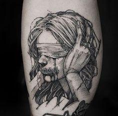 Pin on tattoos Creepy Tattoos, Badass Tattoos, Body Art Tattoos, Sleeve Tattoos, Sketch Style Tattoos, Tattoo Sketches, Tattoo Drawings, Pencil Art Drawings, Piercing Tattoo