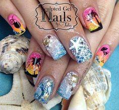 Mermaid Nail Art, Beauty, Wicked, Makeup, Make Up, Beauty Makeup, Beauty Illustration, Bronzer Makeup