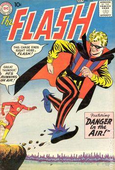 The Silver Age Flash. Classic superhero comics from my childhood! Comic Book Villains, Dc Comic Books, Vintage Comic Books, Vintage Comics, Comic Book Covers, Vintage Magazines, Comic Art, Dc Comics, Flash Comics