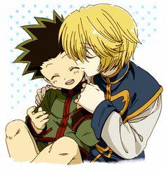 HxH - Gon and Kurapika Mommy Kurapika with child hehe