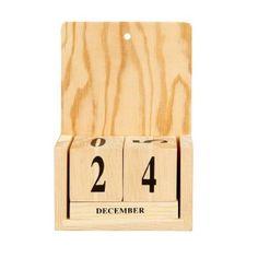 Wieczny kalendarz z drewna