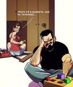 Este artista ilustra su vida diaria con su esposa en cómics