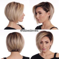 hair and nails color trends - hair and nails . hair and nails color trends . hair and nails growth . hair and nails quick hairstyles . hair and nails vitamins . hair and nails ideas . hair and nails beachy waves . hair and nails salon Bobs For Thin Hair, Short Hairstyles For Thick Hair, Curly Hair Styles, Hair Bobs, Brown Hairstyles, Best Short Hair, Short Hair Cuts For Fine Thin Hair, Short Asymmetrical Hairstyles, Bob Haircut For Round Face