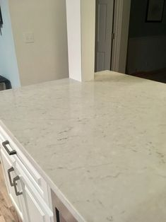 Carrara Mist quartz by MSI - basement bar | For the Home ...