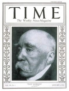 TIME Cover - Vol. 7 Nº 1: Georges Clemenceau | Jan. 4, 1926              http://en.wikipedia.org/wiki/Georges_Clemenceau