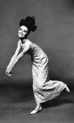 """Audrey Hepburn photographed by Bert Stern for a 1963 Vogue fashion editorial: """"The Givenchy Idea""""."""