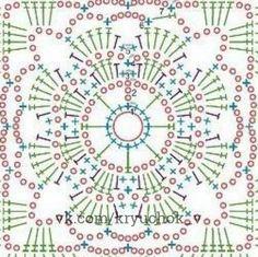 Transcendent Crochet a Solid Granny Square Ideas. Inconceivable Crochet a Solid Granny Square Ideas. Crochet Mandala Pattern, Crochet Motifs, Crochet Blocks, Granny Square Crochet Pattern, Crochet Diagram, Crochet Stitches Patterns, Doily Patterns, Crochet Squares, Crochet Chart