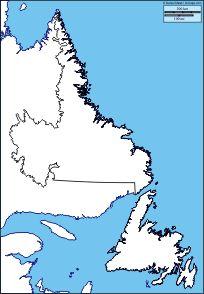 Newfoundland and Labrador: Free maps, free blank maps, free outline maps, free base maps