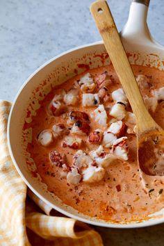Lobster Recipes, Seafood Recipes, Cooking Recipes, Pasta Recipes, Vegetarian Recipes, Fish Dishes, Pasta Dishes, Seafood Dishes, Leftover Lobster Recipe