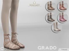 Madlen Grado Shoes Come in 6 colours! You cannot change the mesh, but feel free to recolour it as long as you add original link in the description. If you can't see this creation in CAS, please update...
