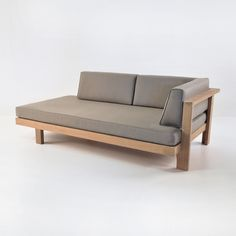 The Cabo teak daybed (left) is made for those who really want to stretch out and feel free. This piece has a prominent platform and minimalist arms.