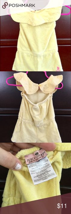 Juicy baby girls yellow jumpsuit Yellow, terry cloth, soft, scalloped collar jumper Juicy Couture One Pieces Bodysuits
