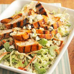 Wanting a healthy twist on classic spicy buffalo chicken wings? This Spicy Buffalo Chicken Salad is perfect for you! Toss this perfectly marinated chicken over chopped greens and add our delicious pepper sauce for your new favorite buffalo chicken recipe.