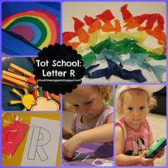 Tot School: Letter R-- for rainbow.