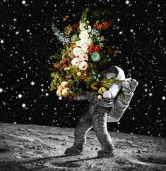 Take my hand look me in the eyeslook at me and trust the dark in my eyes trust the moonlight shining on usWhy would. Astronaut Illustration, Illustration Art, Psychedelic Art, Surreal Art, Aesthetic Art, Cosmos, Aesthetic Wallpapers, Art Inspo, Pop Art