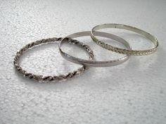 Vintage Bangle jewelry bracelet black with silver silver bangles 3 pcs. https://www.etsy.com/listing/247893689/vintage-bangle-jewelry-bracelet-black?ref=shop_home_active_2&utm_content=buffera365d&utm_medium=social&utm_source=pinterest.com&utm_campaign=buffer #etsygifts