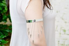 VALENTINES DAY SALE Silver Spike Armband on Etsy, $6.00