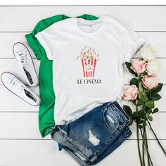 Le Cinema Pop Corn t shirt