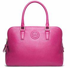 Bright pink Tory Burch satchel