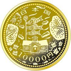 10.000 Yen Gold Erdbeben Rekonstruktionsprojekt - Serie II PP