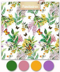 Estampa verão botanical sendo vendida no site Panólatras - por Camila Coelho