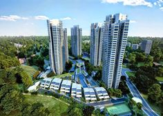 Photo by CapitaLand d'Leedon, acclaimed architect Zaha Hadid's first building in Singapore (not including her curvilinear masterplan de. Zaha Hadid Design, Buying A Condo, Exterior Rendering, Urban Fabric, Condo Design, Commercial Property For Sale, New Condo, 3d Studio, Luxury Condo