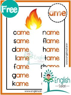 English Phonics, Learn English Grammar, English Writing Skills, Learn English Words, English Books For Kids, Learning English For Kids, English Language Learning, Teaching Sight Words, Phonics Words