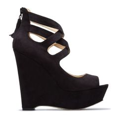 wrapped round black wedges