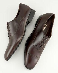 Fantino Lace-Up Shoe, Tmoro by Salvatore Ferragamo at Bergdorf Goodman.