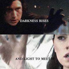 "319 Likes, 2 Comments - SAVE BEN SOLO (@starwars_reylo) on Instagram: ""Darkness rises and light to meet it☯️Credit to magnatolavan on Tumblr#reylo #thelastjedi #starwars…"""