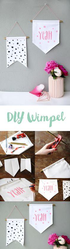 Kreative DIY Idee zum Selbermachen: Lettering Wimpel nähen