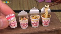 In their wonderfully creative and oddly mesmerizing video channel, Hamster Miniature Studio 2 demonstrates step-by-step how to make tiny dollhouse versions of popular foods such as instant ramen, P…