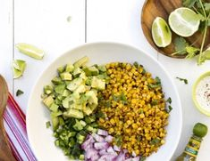 A mexican street corn salad for the potluck