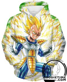 Dragon Ball Z - Super Saiyan Vegeta Powering Up Hoodie - Pullover 3D C – Hoodie Time