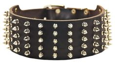 Dean and Tyler WIDE SPIKE Extra Wide Leather Dog Collar with Nickel Spikes  Brown  Size 28Inch by 234Inch  Fits Neck 26Inch to 30Inch -- Click on the image for additional details. This is an Amazon Affiliate links.