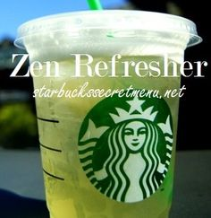 Starbucks Secret Menu: Zen Refresher | Starbucks Secret Menu
