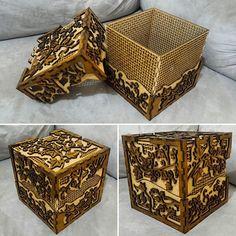 Caixa artística 3 camadas. #caixa #caixas #arte #artistico #artesanal #artesanato #feitoamao #cortelaser #cortealaser #mdf #madeira #design #decor #homedecor #box #art #handmade #lasercut #wood #homedecor