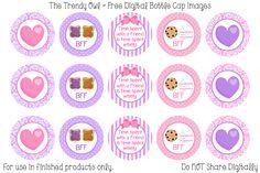 #BFF #Bestfriends #PbandJ #MilkandCookies ~ FREE Digital Bottle Cap Images!! https://www.facebook.com/thetrendyowlUS http://www.thetrendyowl.com