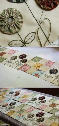 We create a scrappy plaid \'A marvelous garden\' // Tatjana smirnova