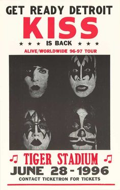 Kiss Vintage Concert Posters | Availability: May take up to 5 Business Days to process prior to ...