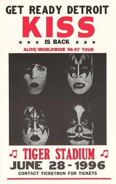 old concert poster Kiss Concert, Rock Concert, Tour Posters, Band Posters, Vintage Concert Posters, Vintage Posters, Rock Roll, Rock Vintage, Festival Posters