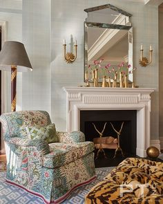 Phillip Thomas, Basement Fireplace, New York Apartments, Apartment Interior Design, Formal Living Rooms, Florida Home, Living Room Inspiration, Living Room Furniture, Interior And Exterior