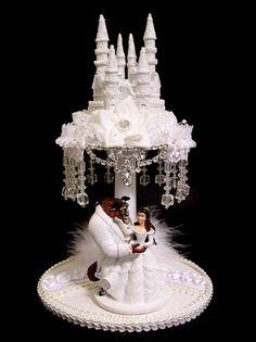 Beauty and the beast theme : Disney Castle cake topper Beauty And The Beast Wedding Cake, Beauty And The Beast Theme, Wedding Beauty, Dream Wedding, Luxury Wedding, Wedding Stuff, Disney Castle Cake, Disney Cakes, Castle Cakes