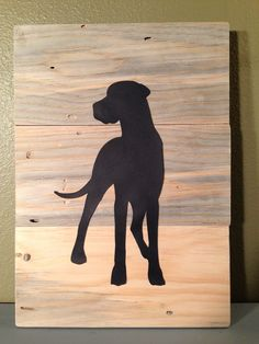 Hand Painted Great Dane Dog Wood Sign    This sign measures approximately 12 x 17    Made from 1x6 pieces blue stained pine We offer this sign for
