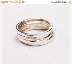 A personal favorite from my Etsy shop https://www.etsy.com/il-en/listing/255270179/on-sale-stacking-rings-silver-silver
