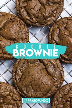 Discover recipes, home ideas, style inspiration and other ideas to try. Brownie Cookies, Chocolate Brownies, Chocolate Cookies, Baking Recipes, Dessert Recipes, Desserts, Whoopie Pies, Culinary Arts, Deserts