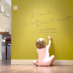Clear dry erase paint - perfect for an office wall!